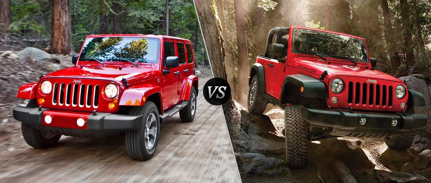 jeep wrangler vs jeep wrangler unlimited ultimate rides. Black Bedroom Furniture Sets. Home Design Ideas