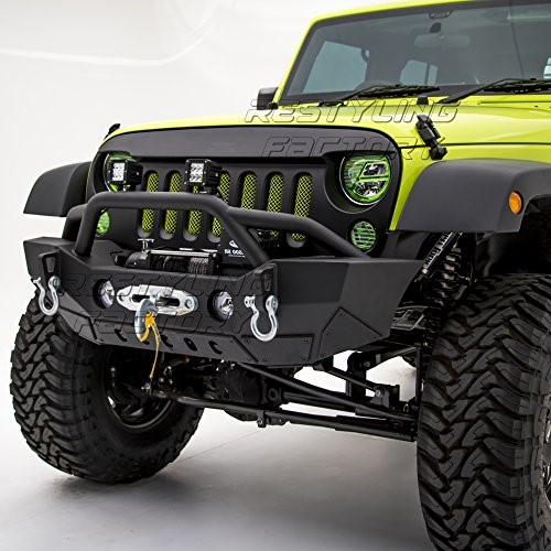 budget guide to cheap jeep bumpers ultimate rides Jeep JK Fenders restyling factory black textured front bumper for jeep wrangler jk